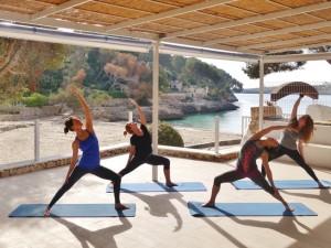 beach yoga